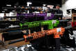 AR-15 rifles with colored hand guards are displayed for sale at the Guntoberfest gun show in Oaks, Pennsylvania, U.S., October 6, 2017. REUTERS/Joshua Roberts - RC1D1F150CE0