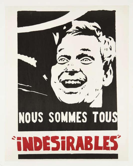 «Nous sommes tous indésirables», une affiche de Bernard Rancillac avec le portrait de Daniel Cohn-Bendit, est estimée entre 600 à 1 200 euros.