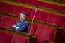 Manuel Valls participe à la discussion sur le régime d'asile européen à l'Assemblée nationale à Paris, en février.