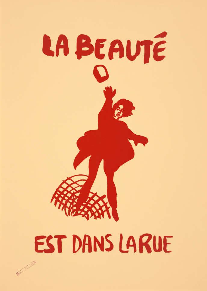 L'une des affiches de Mai 68 vendue aux enchères à Paris, le 13 mars.
