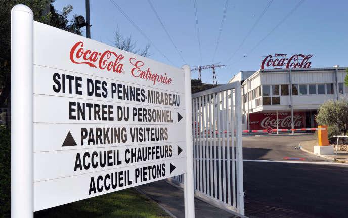 L'usine Coca-Cola des Pennes-Mirabeau (Bouches-du-Rhône), le 9 septembre 2011.