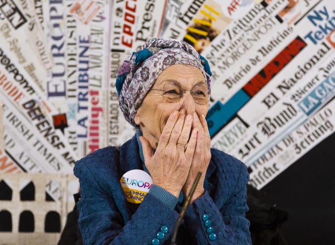 Emma Bonino, dirigeant du parti« Plus d'Europe», le 16 février à Rome.