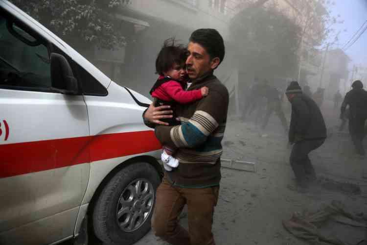 Dans le quartier de Saqba, le 8 février.