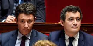 Le porte-parole du gouvernement Benjamin Griveaux (à G.) a relativisé les déclarations du ministre des comptes publics Gérald Darmanin du 1er février.