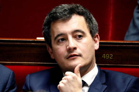 Le ministre de l'action et des comptes publics, Gérald Darmanin, à l'Assemblée nationale, le 13 février.