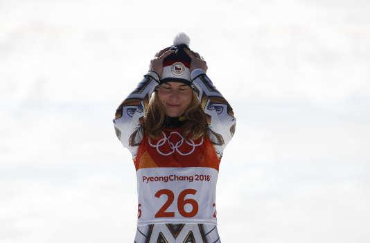 Ester Ledecka dit avoir mis du temps à comprendre qu'elle avait gagné son premier titre olympique.