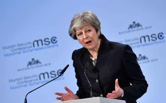 Theresa May à la Conférence de Munich sur la sécurité, le 17 février.