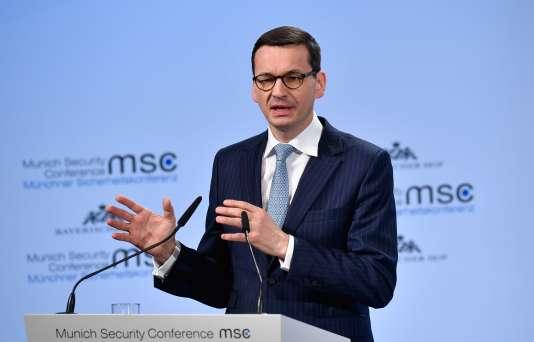 Le premier ministre polonais, Mateusz Morawiecki le 17 février à Munich.