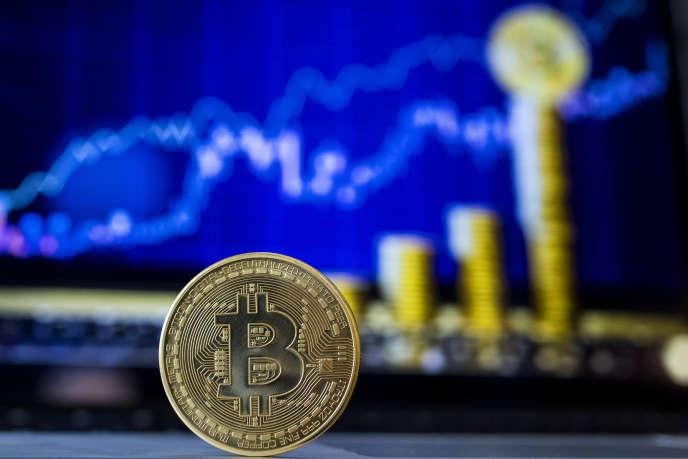 Une représentation visuelle du bitcoin, en février.