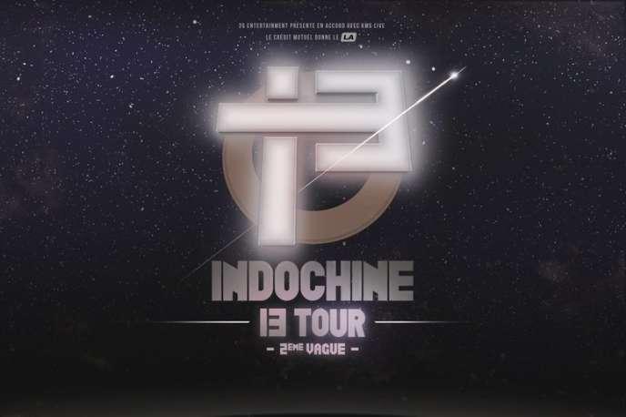 Affiche de la tournée d'Indochine, «13 Tour».