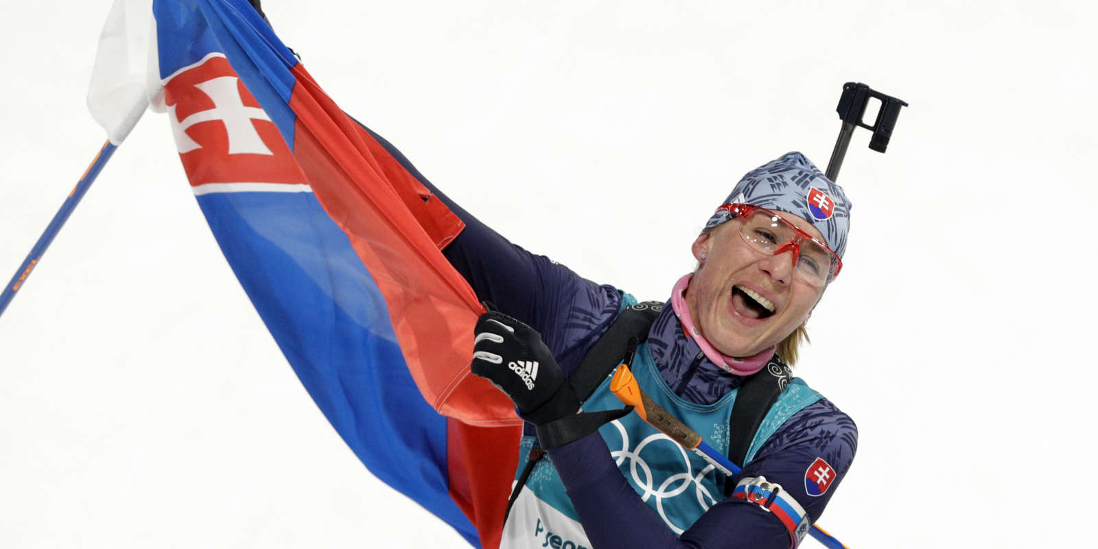 La Slovaque Anastasiya Kuzmina, médaillée d'or de la mass-start, le 17 février.