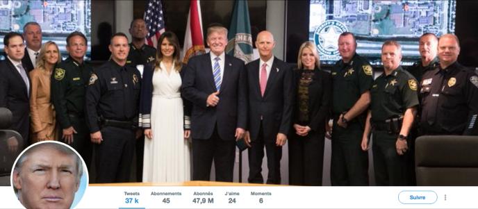 Capture d'écran du compte Twitter de Donald Trump, le 17 février.