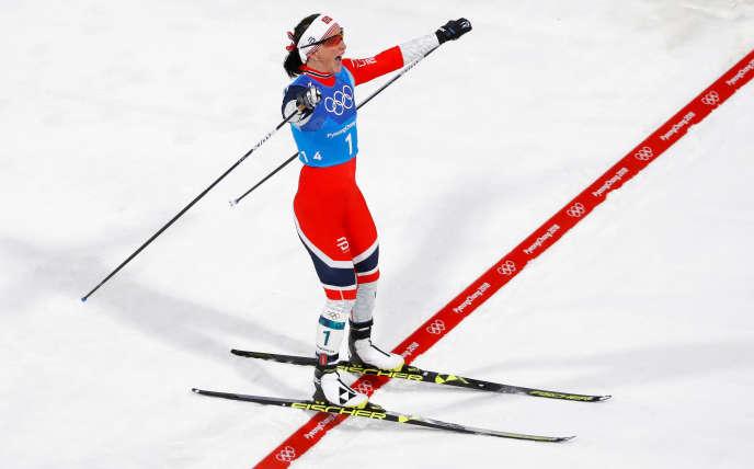 Marit Bjoergen, le 17 février.