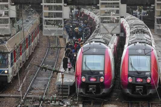 La gare SNCF de Paris Saint-Lazare, le 15 février.