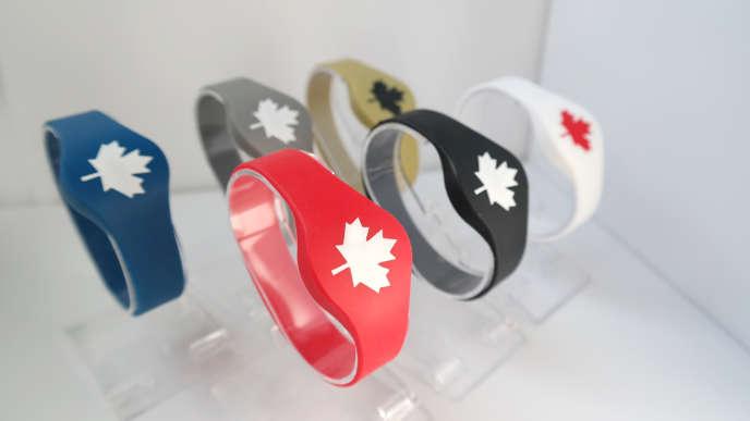 Bracelets de l'équipe canadienne pour les Jeux olympiques de Pyeongchang.