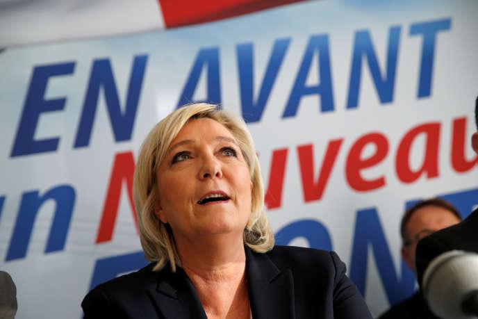 Marine Le Pen, à Laon, le 18 février.