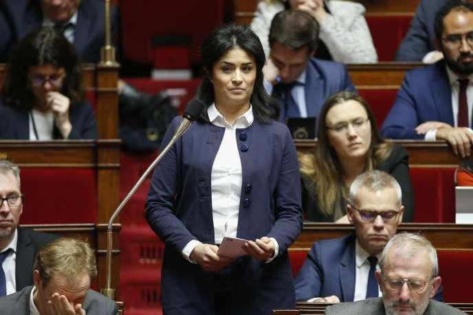 Sonia Krimi, députée de la Manche, lors de la séance des questions au gouvernement à l'Assemblée nationale, le 19 décembre 2017.
