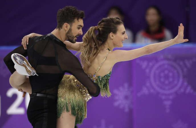 Gabriella Papadakis et Guillaume Cizeron ont terminé à la deuxiéme place du programme court, en danse sur glace.