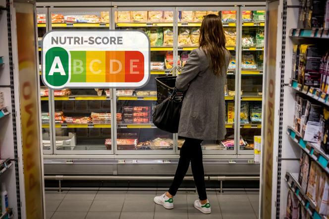 Nutri-Score, un système d'affichage en 5 coulleurs.