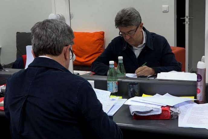 Jean-Luc Mélenchon dans le documentaire français de Gilles Perret,«L'Insoumis».