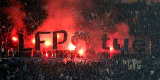 Les supporteurs de l'OM lors du match face à Bordeaux, le 18 février.