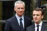 Le ministre de l'économie Bruno Le Maire et le président Emmanuel Macron lors de la réunion sur les«ruptures technologiques et inégalités», à Bercy, le 21 novembre 2017.