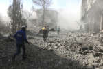 L'enclave rebelle de la Ghouta, près de Damas, en Syrie. le 20 févrierr.