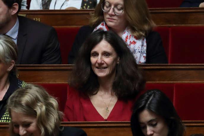 Elise Fajgeles, rapporteuse du projet de loi asile-immigration, à l'Assemblée le 20février.