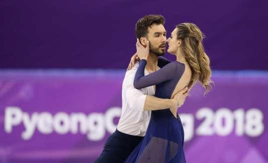Guillaume Cizeron et Gabriella Papadakis durant leur programme libre mardi 20 février à Pyeongchang (Corée du Sud)