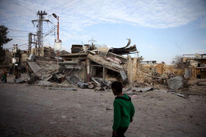 Dans la Ghouta orientale, en Syrie, en février 2018.
