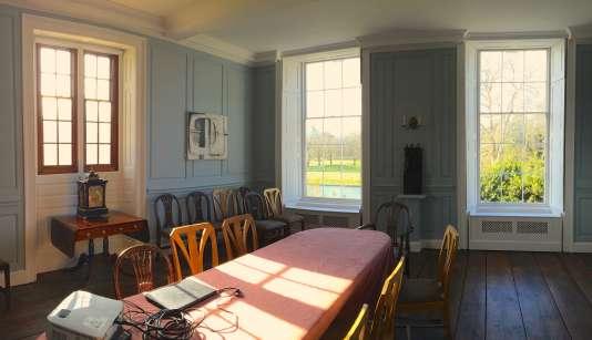 La Thirkill room, une salle donnant sur la rivière Cam, où se réunit l'un de mes séminaires dans le collège de Clare.