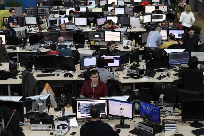 Les bureaux du studio de jeux vidéo Ivory Tower, appartenant à Ubisoft, à Villeurbanne (Rhône), le 29 novembre 2017.