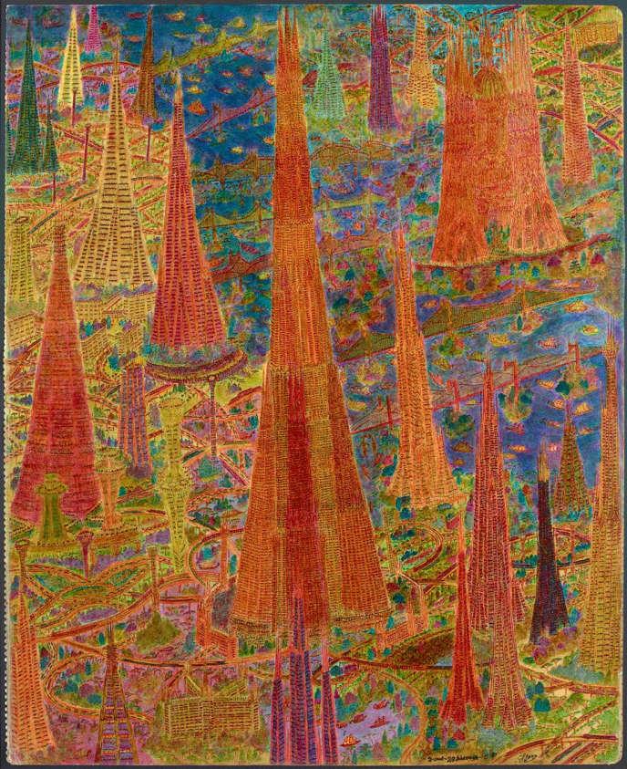 Marcel Storr (1911-1976), Sans titre, 1970, Crayon, encre de couleurs et vernis sur papier Canson. Signé et daté en pied. Format 50 x 61 cm. Estimation : 50 000 à 80 000 euros.