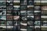 Extrait d'« Oswiecim » (2002), série consacrée au camp d'Auschwitz. Le photographe a accolé les images du camp actuel et d'archives.