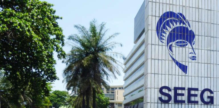 Le siège de la Société d'énergie et d'eau du Gabon, filiale de Veolia, à Libreville, en 2010.