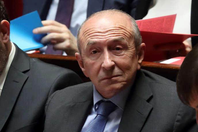 Gerard Collomb, sur les bancs de l'Assemblée nationale en février 2018.