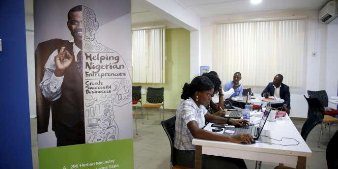 Un incubateur de start-up à Lagos, au Nigeria, en 2015.