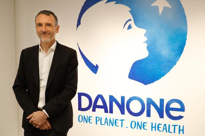 Le PDG de Danone, Emmanuel Faber, à Paris, le 16 février.