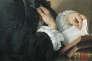 Un lecteur. Détail d'une toile de Pierre Subleyras, XVIIIe siècle.