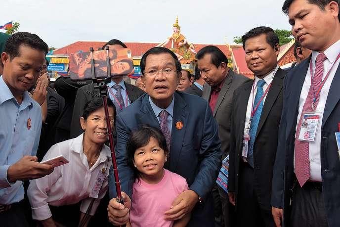 Le premier ministre cambodgien à Phnom Penh, en janvier 2017.