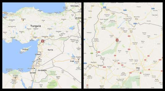 Carte de situation d'Afrin, en Syrie.