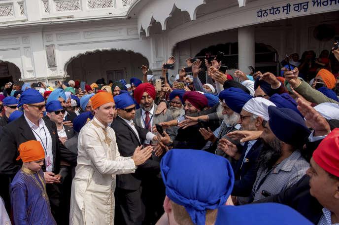 Justin Trudeau, le 21 février àAmritsar, dans le Pendjab indien.