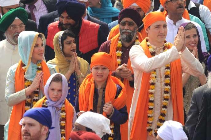 Justin Trudeau et sa famille en Inde.