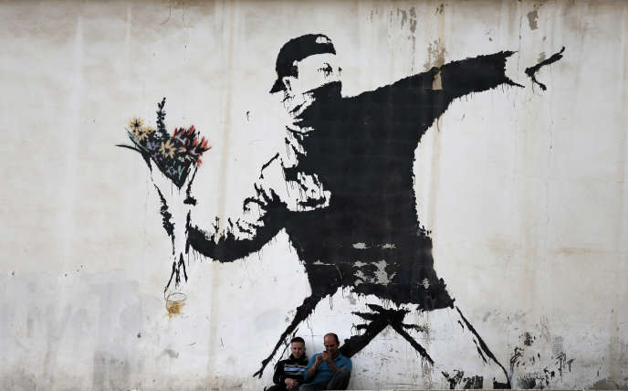 Photo d'illustration : ungraffiti de Banksy dans les territoires palestiniens, photographié en 2015. AFP PHOTO / THOMAS COEX