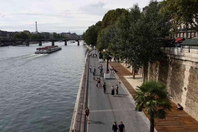 En septembre 2016, sur la voie Georges-Pompidou à Paris.