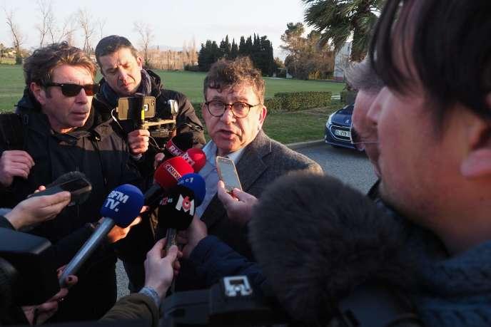 L'avocat de la conductrice du car scolaire, Jean Codognes, le 21 février.