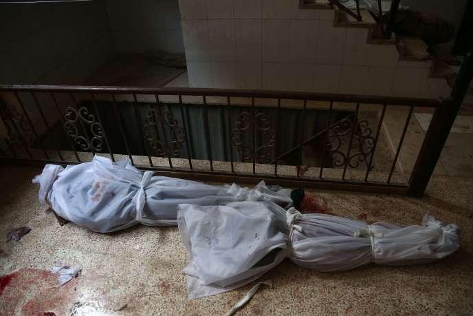 A Hamouria dans la Ghouta orientale, l'enclave rebelle en périphérie de Damas, mardi 20 février.