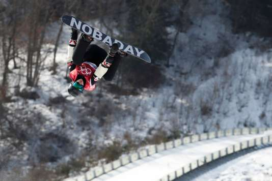 Le Canadien Max Parrot lors des qualifications du« big air», le 21 février à Peyongchang.