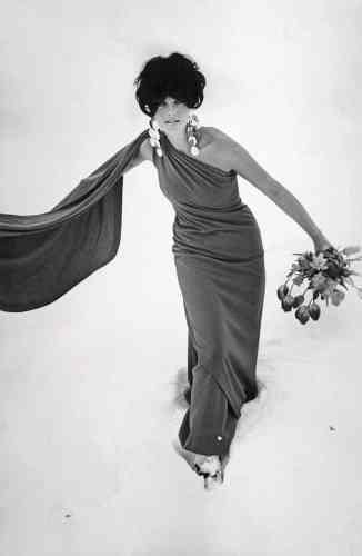 Rita Scherrer en haute couture Klosters, 1967.