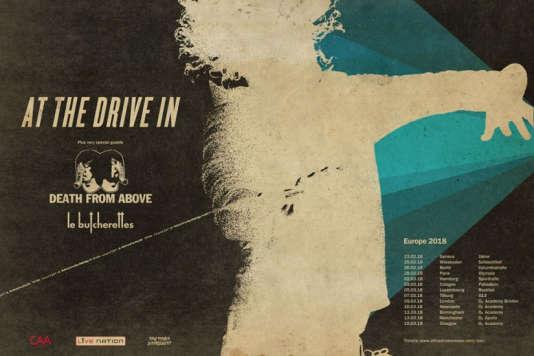 Affiche de la tournée européenne hiver 2018 de At The Drive-In.